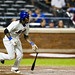 Jose Reyes runs to first