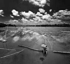 Her Essence (bijoyKetan) Tags: umbrella river landscape ir fisherman long exposure bangladesh pseudo ketan panchagarh sigma1020mmhsm bijoyketan