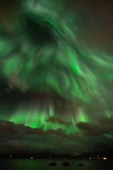 Aurora Borealis over Kvaløya, Troms. (John A.Hemmingsen) Tags: longexposure sky colors night clouds norge nikon nordnorge northernlights auroraborealis tromsø troms nordlys tokina1116 nikond7000 musictomyeyeslevel1