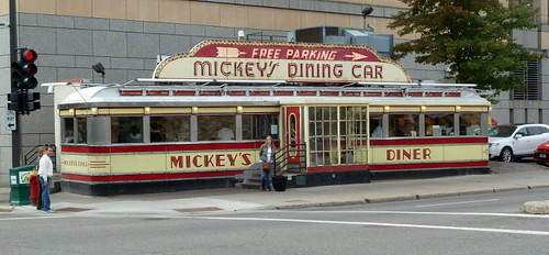 Outside Mickey's Diner