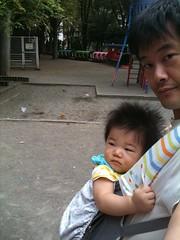朝散歩とらちゃん@恵比寿公園 (2011/10/01)