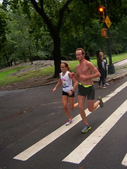 #184 Sarah Cummings New York Athletic Club 100B5441.JPG (smith_cl9) Tags: road park new york city nyc ny west fall wet weather club race one drive 1 athletic saturated october muscular manhattan marathon side central saturday 7 overcast running racing upper seven half runners nyac miles cp jogging 13 endurance jog mile brooks thirteen uws 131 soaked 2011 211km