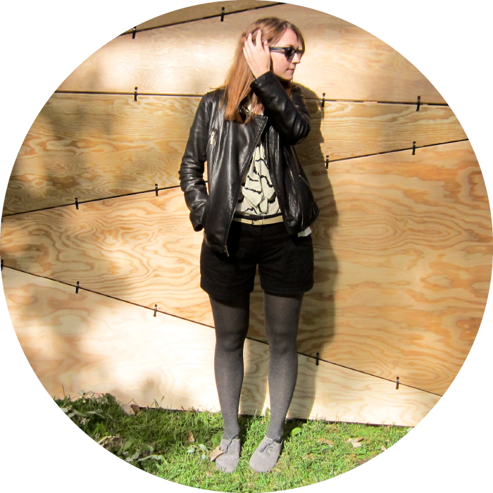 dashdotdotty, how to wear shorts with tights, fall shorts, black leather, shorts and oxfords, cultivate, chicago
