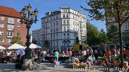 Hansaplatz Flohmarkt in Hamburg St. Georg