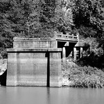 Lost Bridge, Clarks Ferry Rd, Over Neches River, West of US 59 1001111100BW thumbnail