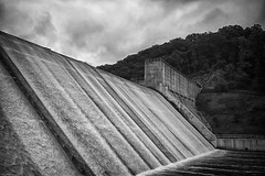 Rain will come. I will hold it..   LochRaven Dam  HDR