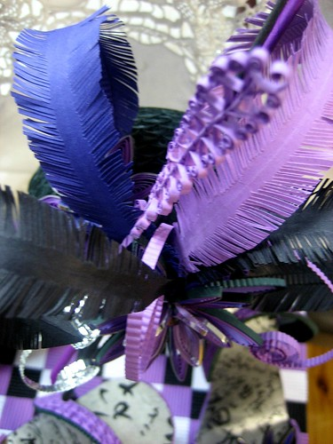 Quilled fascinator feathers