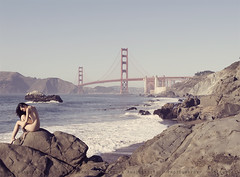 Baker Beach, SF (Ole Lukoie) Tags: ocean sanfrancisco bridge people beach sand waves goldengate nakedwoman bakerbeach nudistbeach