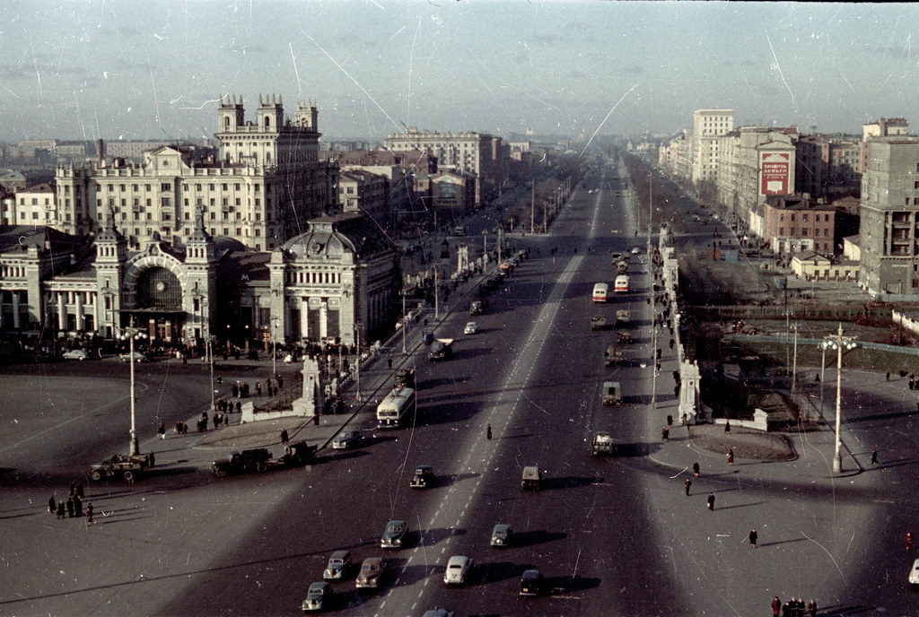 Белоруский вокзал, 50е