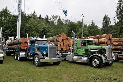 Kjell Espeland Kenworth and Vintage Trucking Peterbilt 351