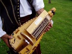 Hurdy gurdy @ Little Moreton Hall (DizDiz) Tags: uk england costume cheshire musicalinstrument nationaltrust congleton hurdygurdy olympusc720uz