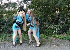 Geisha Twins Gone Goofy (I*Am*The*Great*Moon*Goddess*) Tags: moon hair j twins long great goddess michelle luna geisha blonde