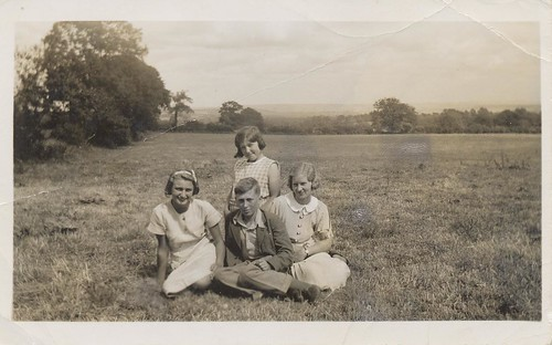Selina, Iris, Tom, Margaret, 1935.