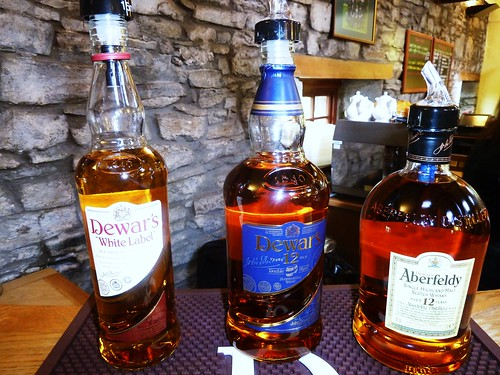 Dewars Whisky at Aberfeldy