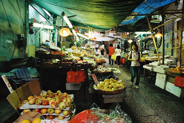 Graham Street Market in Hong Kong