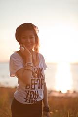 siberia. (soapyjuice) Tags: girl model woman hipster sun sunset magic hour magichour beach water sand bokeh portrait canon canon5dmkii 5dmkii mystuff ottawa ontario canada