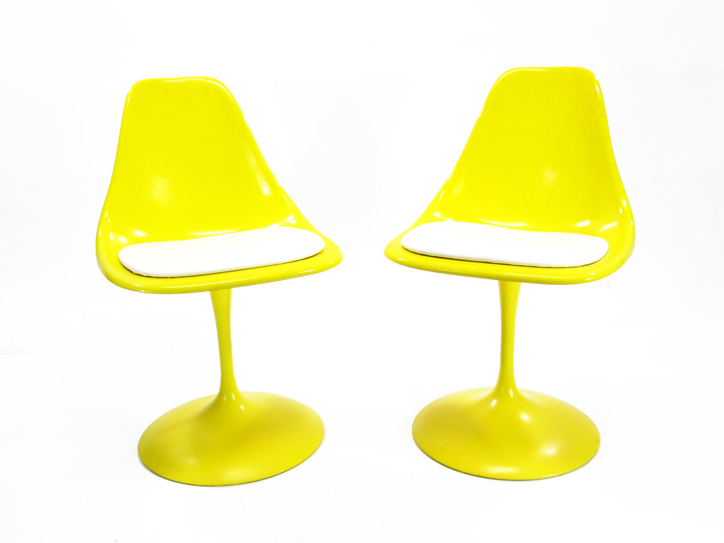 Vintage Yellow Tulip Chairs