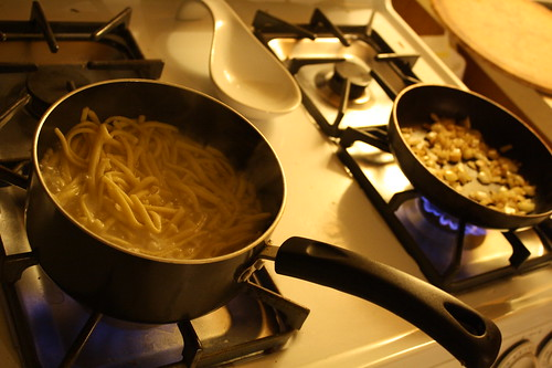 cooking spaetzle