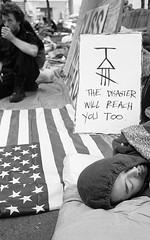 Occupy Wall Street, NYC (RenaGinz) Tags: nyc newyorkcity protest 11 d76 neopan400 summilux protesters leicam6 zuccottipark 95minutes leica35mmf14 occupywallstreet occupiedwallstreet