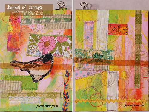 Journal of Scraps I: front & back of the cover