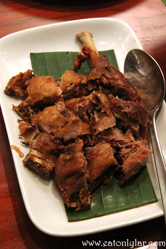 Bebek Megoreng (crispy fried quarter duck), The Uma
