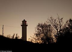 Subbe Lighthouse (Michael Wahlgren) Tags: ocean autumn sunset sea lighthouse colors silhouette canon warm autum sweden efs1855mm 1855mm efs hst fyr varberg solnedgng halland 500d vstkusten canon500d siluett kattegatt subbe subbefyr