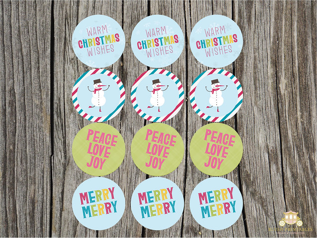 Retro Christmas Party Circles - FREE PRINTABLE