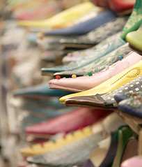 shopping for shoes (..Ania.) Tags: shopping shoes colorful marocco medina fes leathershoes