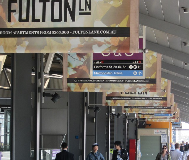 POTD: Advertising at Southern Cross station