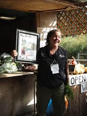 Nathalie Chamers與TLC合作經營一強調有機與生態保育的農場,並向消 費者教育減少食物旅程的重要性