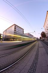 morning tram (diwan) Tags: city canon germany geotagged deutschland eos place tram fisheye magdeburg stadt innenstadt 2011 saxonyanhalt sachsenanhalt breiterweg strasenbahn canoneos450d walimexprofisheye835 geo:lon=11635543 geo:lat=52129879