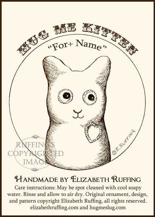 Fleece Hug Me Kitten Keepsake Christmas Ornament by Elizabeth Ruffing