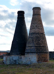 Evidence of our diminishing industrial past. (stokeyouth1) Tags: building brick canal bottle industrial kilns oven urbandecay panasonic sanitary works stokeontrent pottery past staffordshire johnsons compact listed potteries ware listedbuilding hanley caldon dmctz5