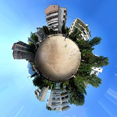 Little clearing Little planet (amfipolos) Tags: photoshop photography 360 athens panoramic sonycybershot clearing polarcoordinates polarpanorama stereographicprojection lttleplanet
