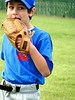 Hungry for Leather? (spinadelic) Tags: road blue boy green fall sports field grass hat leather rock kids ball children belt october uniform pants baseball little eating gray ken tshirt best deputy cap junior glove arkansas cubs hungry recreation cantrell stevespencer 2011