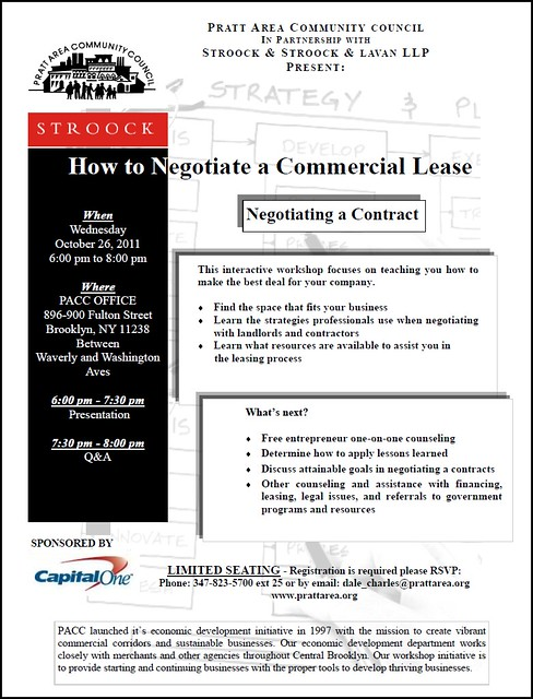 Free Small Business Workshop How To Negotiate A Commercial Lease