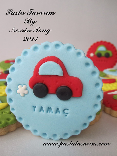 LITTLE RED CAR COOKIES- YAMAÇ BABY SHOWER