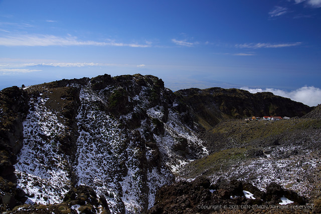 The ridge of Mt. Chokai at first snow day, 2011. #2