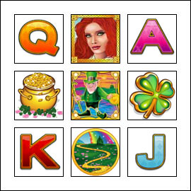 free Irish Eyes slot game symbols