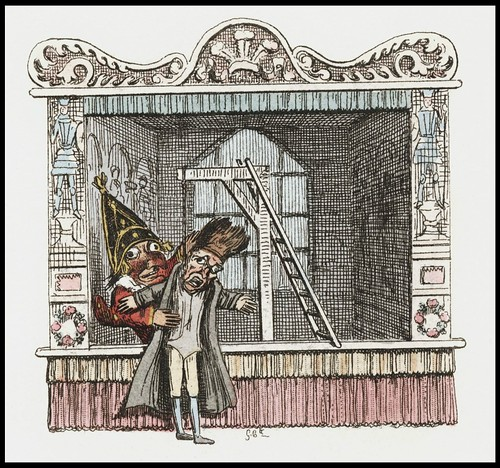 Punch and Judy by George Cruikshank, 1828 o
