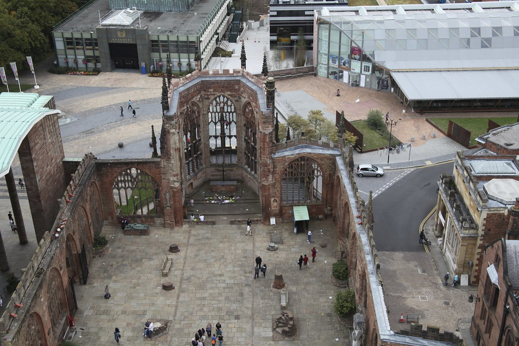 Coventry Cathedral: Looking Down