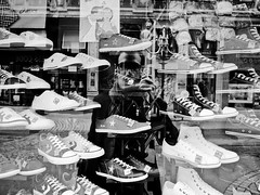 You are not your shoes ! (c.lemon) Tags: bw france reflection self mirror lyon snap consumerism bollocks tylerdurden gr3