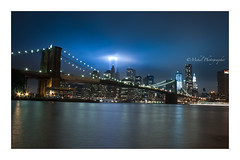 Tribute in Light (Mehul Photographer) Tags: nyc brooklyn 911 brooklynbridge twintowers tributeinlight remembering 911lights 10thyearanniversary freedomtover
