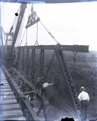 Photograph of the 1914 steel viaduct project
