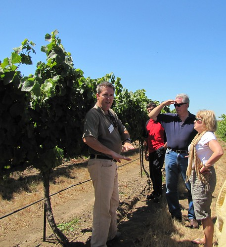 Evan Oakes discusses the grape growing process at Talbott