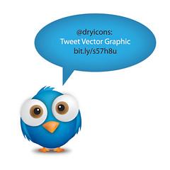 Tweet (DryIcons) Tags: cute bird vector comment tweet tweeting twetter
