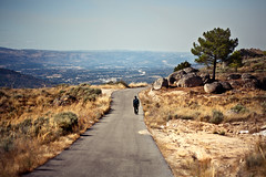 Fifi seul au monde (Alos Peiffer) Tags: travel portugal alone walker hiker lonely rambler fifi backpacker marcheur guarda traveler 2011 canonef85mmf18usm alospeiffer