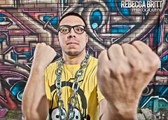 Shawn1 (Rebecca Britt) Tags: portrait music male guy outside graffiti artist texas mcallen hiphop rap strobe riograndevalley rgv strobes