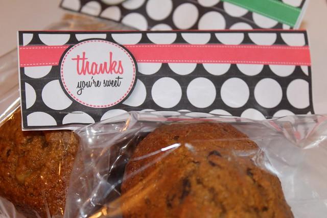 Gifting with Freezer Food: Free thank you printable