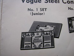 vogue no 1 set layout (meccanohig) Tags: steel vogue sets constructional